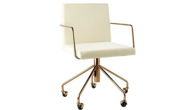 Rouka White Office Chair - CB2