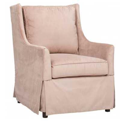 Hand Over Heart Blush Chair - High Fashion Home