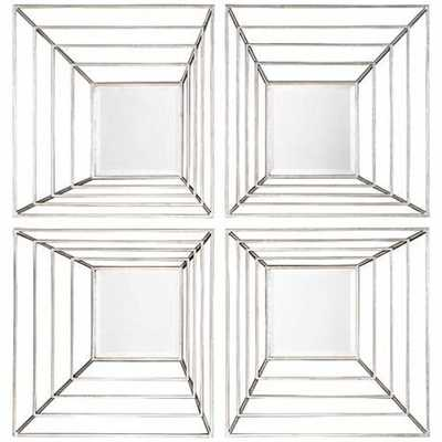 """22"""" Square Wall Mirror Set of 4 - Hudsonhill Foundry"""