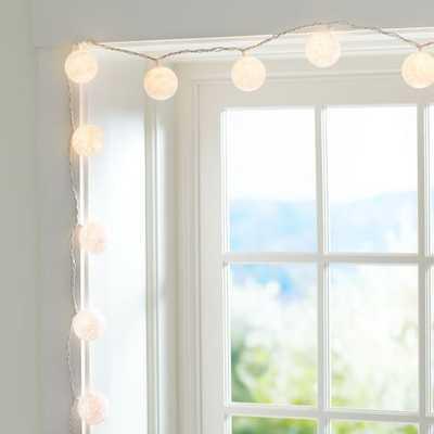 Woven Globe String Lights,White - Pottery Barn Teen