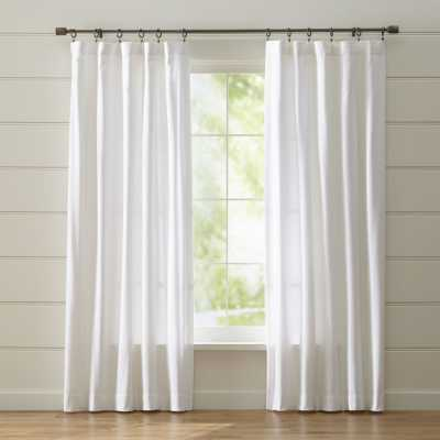 "Wallace 52""x96"" White Curtain Panel - Crate and Barrel"