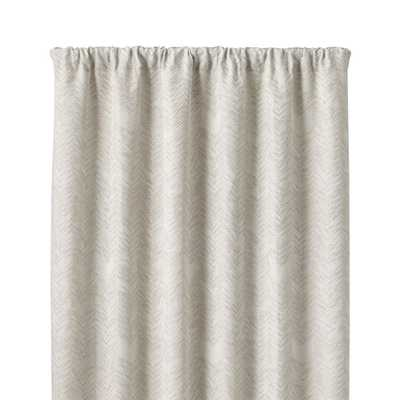 "Dover Cream/Taupe 50""x84"" Curtain Panel - Crate and Barrel"