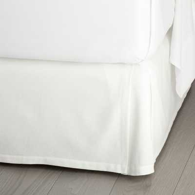"Paloma White 15"" King Bedskirt - Crate and Barrel"