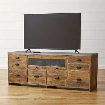 Bluestone Reclaimed Wood Media Console - Crate and Barrel