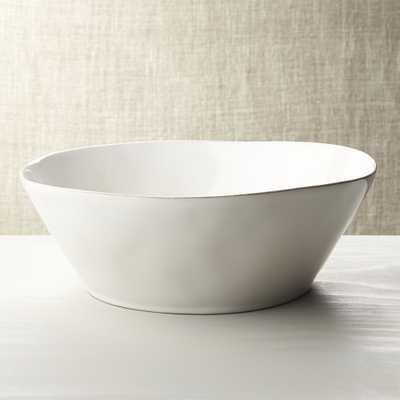 Marin White Large Serving Bowl - Crate and Barrel