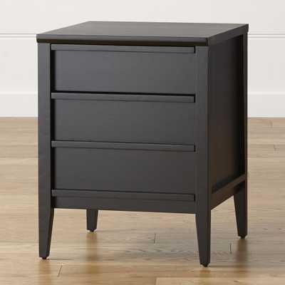 Spotlight Ebony Filing Cabinet - Crate and Barrel