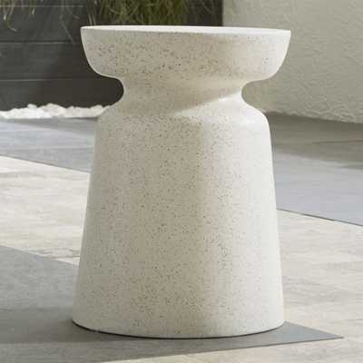 Crest Side Table-Stool - Crate and Barrel