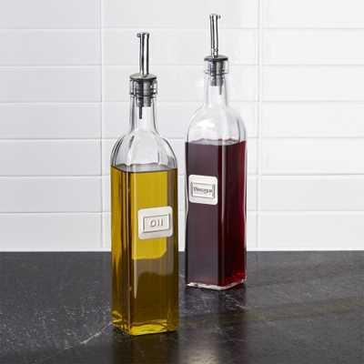 Oil and Vinegar Bottle Set - Crate and Barrel