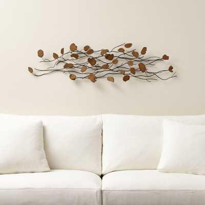 Teakroot Discs Wood Wall Art- single - Crate and Barrel