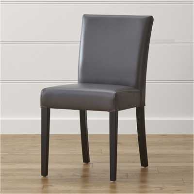 Lowe Smoke Leather Dining Chair - Crate and Barrel
