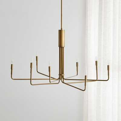 Clive 8-Arm Brass Chandelier - Crate and Barrel