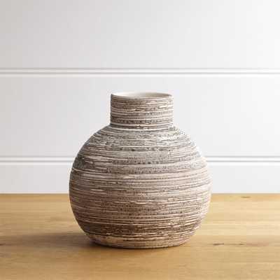 Cove Short Circular Vase - Crate and Barrel
