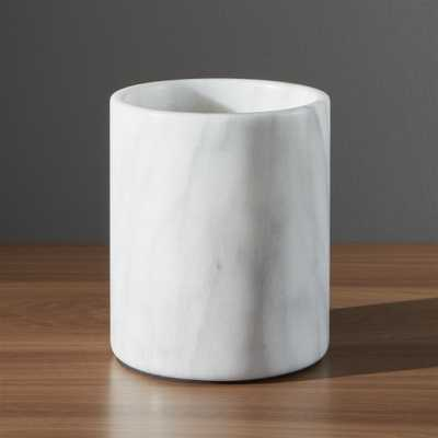French Kitchen Marble Utensil Holder - Crate and Barrel