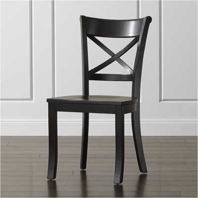 Vintner Black Wood Dining Chair - Crate and Barrel