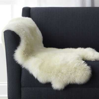 "Sheepskin 21""x37"" Throw/Rug - Crate and Barrel"
