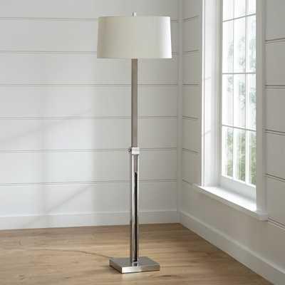 Denley Nickel Floor Lamp - Crate and Barrel