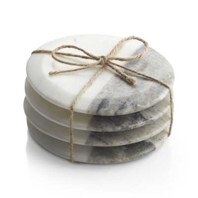 Set of 4 Marble Coasters - Crate and Barrel