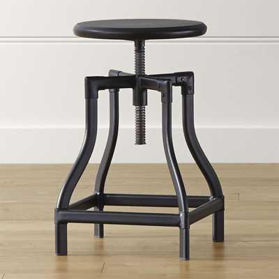 Turner Black Adjustable Backless Counter Stool - Crate and Barrel