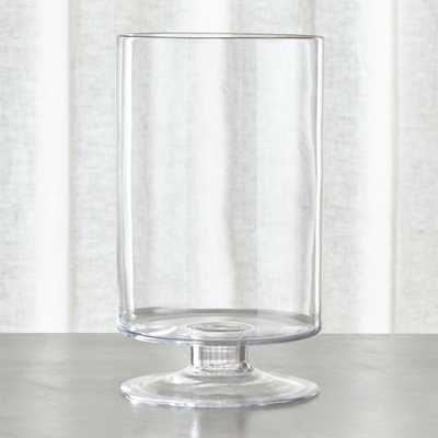 London Large Clear Hurricane Candle Holder - Crate and Barrel