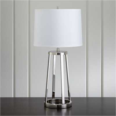 Stanza Nickel Table Lamp - Crate and Barrel