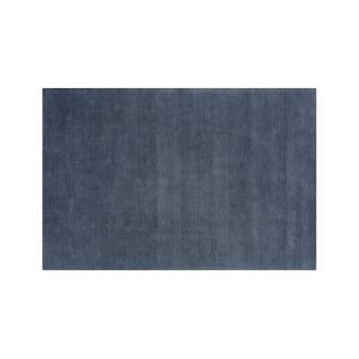 Baxter Blue Wool 8'x10' Rug - Crate and Barrel