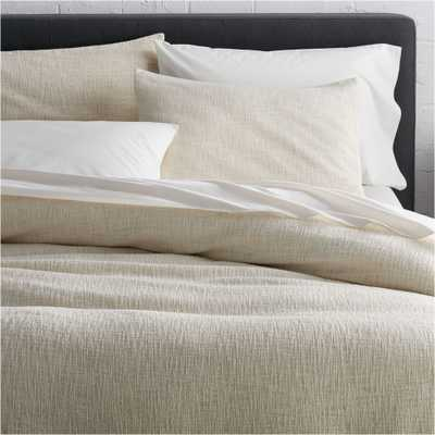 Lindstrom Ivory King Duvet Cover - Crate and Barrel