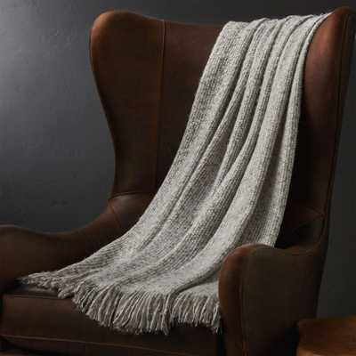 Weldon Taupe Throw - Crate and Barrel