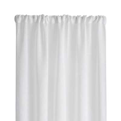 """Linen Sheer 52""""x84"""" White Curtain Panel - Crate and Barrel"""