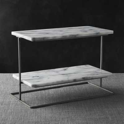 French Kitchen Marble 2-Tier Server - Crate and Barrel