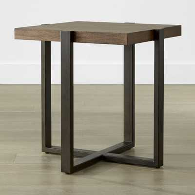 Lodge Square Side Table - Crate and Barrel