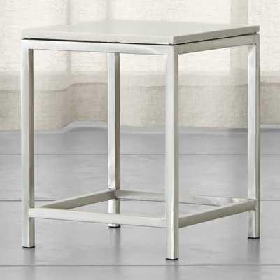 Era Limestone Square Side Table - Crate and Barrel