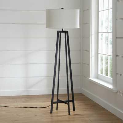 Castillo Black Floor Lamp - Crate and Barrel