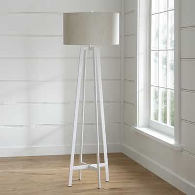 Castillo White Floor Lamp - Crate and Barrel