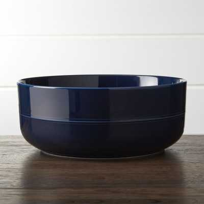 Hue Navy Blue Serving Bowl - Crate and Barrel