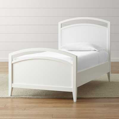 Arch White Twin Bed - Crate and Barrel