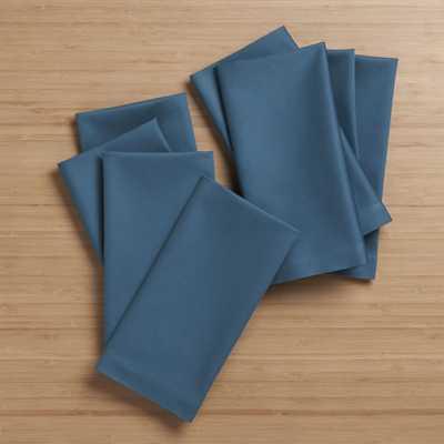 Fete Corsair Blue Cloth Napkins, Set of 8 - Crate and Barrel