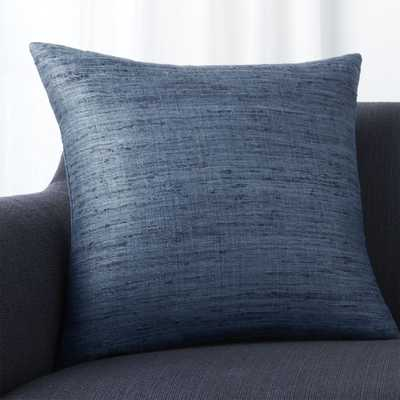 "Trevino Delfe Blue 20"" Pillow with Down-Alternative Insert - Crate and Barrel"