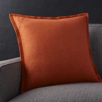 "Linden Copper 18"" Pillow with Down-Alternative Insert - Crate and Barrel"