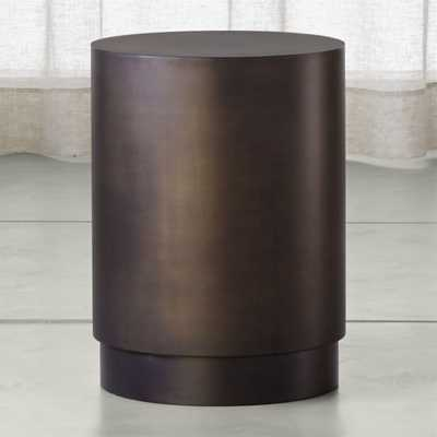 Patina Bronze Drum Table - Crate and Barrel