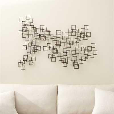 Squares Nail Wall Art, Set of 3 - Crate and Barrel