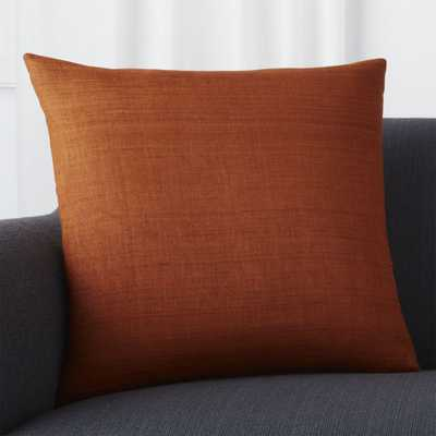 """Michaela Cayenne 20"""" Pillow with Feather-Down Insert - Crate and Barrel"""