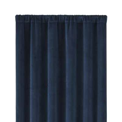 """Windsor Midnight 48""""x108"""" Curtain Panel - Crate and Barrel"""