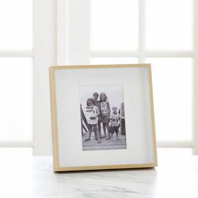 Brushed Brass 5x7 Frame - Crate and Barrel