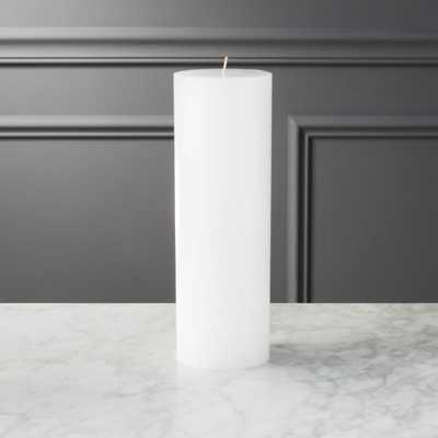 "3""x9"" white pillar candle - CB2"
