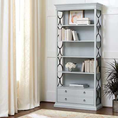 Alden Tall Bookcase - Fog Gray - Ballard Designs