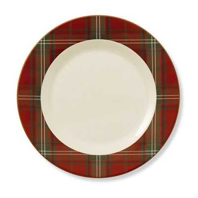 Red Tartan Charger - Williams Sonoma