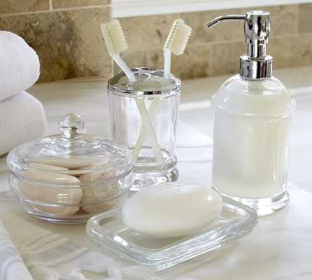 PB Classic Glass Bath Accessories - Soap/Lotion Pump - Pottery Barn