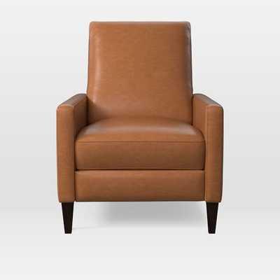 Sedgwick Recliner, Leather, Saddle - West Elm