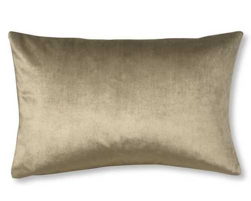 Velvet Lumbar Pillow Cover, Putty - Williams Sonoma