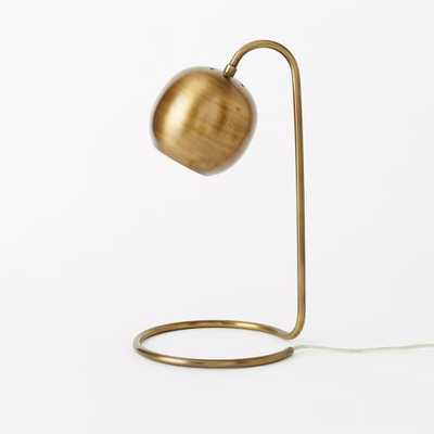 Scoop Table Lamp - Antique Brass - West Elm